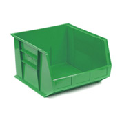 Quantum Plastic Stackable Bin QUS270 16-1/2 x 18 x 11 Green - Pkg Qty 3