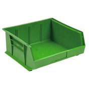 Quantum Plastic Stackable Bin QUS245 16-1/2 x 10-7/8 x 5 Green - Pkg Qty 6