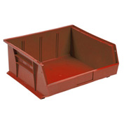 Quantum Plastic Storage Bin - Small Parts QUS245 16-1/2 x 10-7/8 x 5 Red - Pkg Qty 6