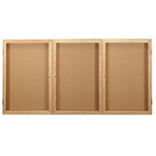 "United Visual Products Bulletin Board Three Door, 96""W x 48""H"