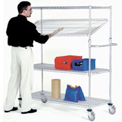 Nexel® E-Z Adjust Wire Shelf Truck 72x24x60 1200 Pound Capacity
