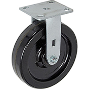 "Heavy Duty Rigid Plate Caster 8"" Plastic Wheel 800 Lb. Capacity"