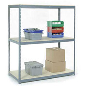 "Wide Span Rack 72""W x 36""D x 96""H With 3 Shelves Wood Deck 900 Lb Capacity Per Level"