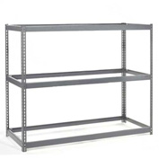 "Wide Span Rack 48""W x 24""D x 84""H With 3 Shelves No Deck 1200 Lb Capacity Per Level"