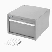 "12""H Stacking Workbench Drawer, Gray"