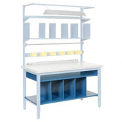 "60""W Lower Shelf Kit with Dividers"