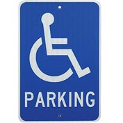 "Aluminum Sign - Handicap Parking Logo - .080 "" Thick, TM94J"