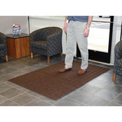Chevron Ribbed  Mat 3x5 Brown