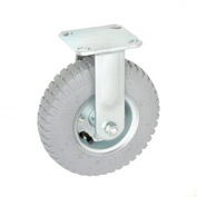 "Rigid Plate Caster 8"" Full Pneumatic Wheel 300 lb. Capacity"