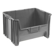 Heavy Duty Plastic Hopper Bin - Gray, Sold Pkg Qty 3 - Pkg Qty 3