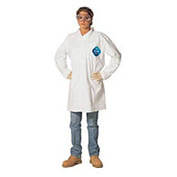 Disposable Lab Coat - 2 Pocket - Open Collar - Snap Front, S, Case Of 30