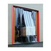 Standard Grade Smooth Clear Strip Door Curtain 10'W x 9'H