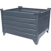 "Topper Stackable Steel Container 51000 Solid, 35""L x 35""W x 18""H, Unpainted"