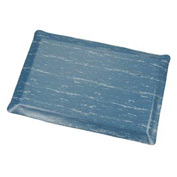 Marbleized Top Ergonomic Mat 2 Foot Wide Cut Blue