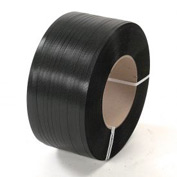 "Polypropylene Strapping 1/2"" x .018"" x 9,000' Black 16"" x 6"" Core"