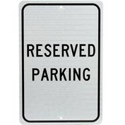Aluminum Sign - Reserved Parking - .08mm Thick