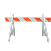 Traffic Barricade A-Frame 6 Ft. With 1 Rail