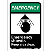 "Graphic Signs - Emergency Shower - Vinyl 7""W X 10""H"