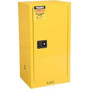 Global™ Compact Flammable Storage Cabinet 16 Gallon Capacity 1 Shelf
