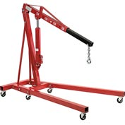 Global Industrial™Folding Floor Crane with Telescopic Boom 4000 Lb. Capacity