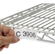 """Clear Label Holder for Wire Shelf 1-1/4""""H x 24""""W with Paper Insert (6 pcs/pkg) - Pkg Qty 6"""