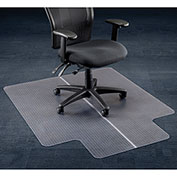 "Aleco® Office Chair Mat for Carpet - 46""W x 60""L with 25"" x 12"" Lip - Straight Edge"