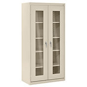 Sandusky Clear View Storage Cabinet CA4V361872 -36x18x72, Putty