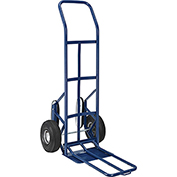 Industrial Strength Steel Hand Truck with Curved Handle & Stair Climbers 600 Lb. Capacity