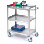 "Stainless Steel Utility Cart 24""L x 16-1/4""W x 33""H 400 Lb. Cap."