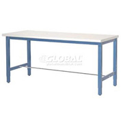 "72""W x 30""D Packaging Workbench - Plastic Laminate Safety Edge - Blue"