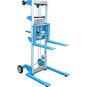 Vestil Lightweight Hand Operated Lift Truck A-LIFT-S-HP 400 Lb. Straddle Legs