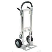 Best Value Junior Aluminum 2-in-1 Convertible Hand Truck with Pneumatic Wheels