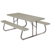 "Lifetime® Fold-Away Picnic Table 72"" x 30"" - Putty"