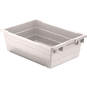 Quantum Cross Stack Nest Tub TUB2417-8 - 23-3/4 x 17-1/4 x 8 White - Pkg Qty 6