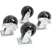 "Caster Kit 5"" X 1 1/2"" (4 Swivel, 2 With Brakes)"
