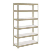 "Extra Heavy Duty Shelving 48""W x 24""D x 96""H With 6 Shelves, 1200 lbs. Capacity Per Shelf, Tan"