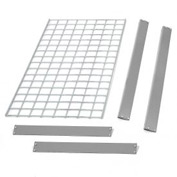 "Bulk Rack Shelf Wire Deck 48""W x 12""D Gray"