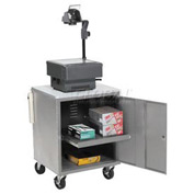 Gray Security Audio/Visual Cart 500 Lb. Capacity