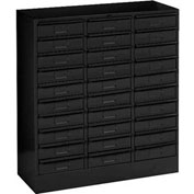 "Tennsco Drawer Cabinet 2085 03 - 30 Drawer Letter Size, 30 5/8""W X 11-5/8""D X 33""H, Black"