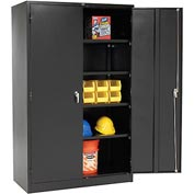 Global™ Heavy Duty Storage Steel Cabinet Easy Assembly 48x24x78 Black