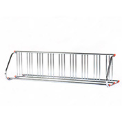 Grid Bike Rack, 18-Bike, Double Sided, Powder Coated Galvanized Steel