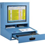 LCD Counter Top Security Computer Cabinet - Blue