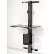 "72""H Wall Mount Unit with VESA Mount - Black"