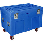 "Myton Shipping Container and Site Box RC-4534H5 with Casters - 45""L x 30""W x 34""H, Blue"