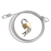 Security Cable Kit - Includes Cable Padlock And 3 Keys