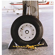 "Vestil Twin Aircraft Wheel Chocks AC-13 10""L x 5""W x 4-1/2""H with Poly Rope"
