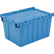 Plastic Shipping Container - Hinged Lid Storage DC2115-12 21-7/8 x 15-1/4 x 12-7/8 Blue