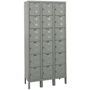 Hallowell U3258-6A-HG Premium Locker Six Tier 12x15x12 18 Door Assembled Gray