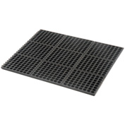 Cushion Modular Matting 5/8 Inch Thick 3' X 3' Drainage Black