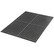 "Extra Value Drainage Matting 1/2"" Thick 3'Wx10'L Black With Grit Top"